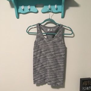 EUC ATHLETA Grey Built In Bra Athletic Razorback